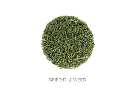 minimalistic: Food circle dried herbs dill weed minimalistic design