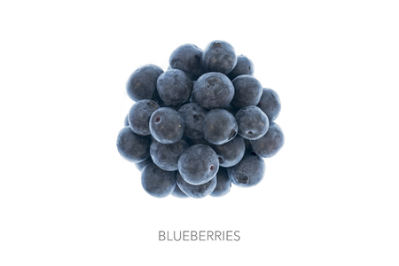 circle shape: Blueberries in shape circle round ball Stock Photo