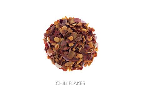 circle shape: Chili flakes shape of ball circle round