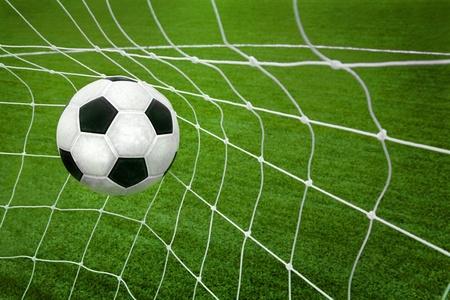 pelota de futbol: Objetivo. bal�n de f�tbol en red.
