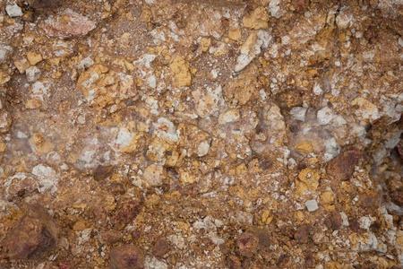 brown granite: rock and mineral