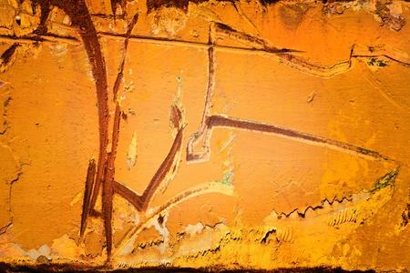 Plaque de m�tal jaune avec rayures grands
