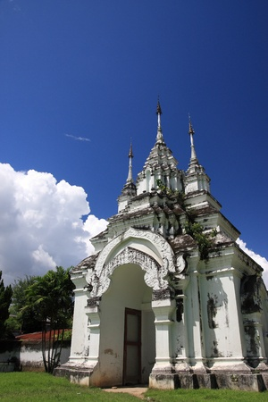 Suan dok temple gate in blue sky  photo