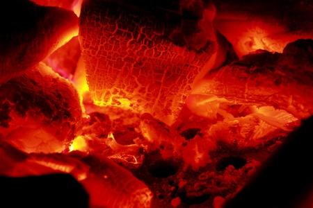 embers: close up of burning coals