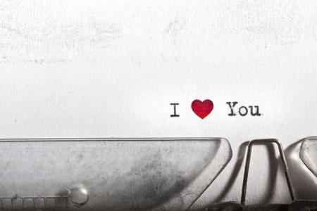 Ma premi�re lettre d'amour �crite sur une vieille machine � �crire