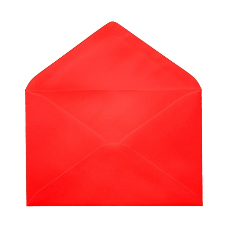 Open brown Envelope on white background photo