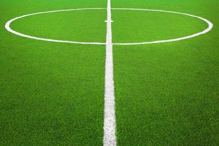 pasto sintetico: Centro del campo de fútbol o el fútbol