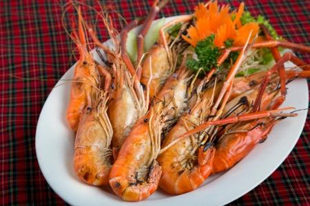 Crevettes grill�es Banque d'images