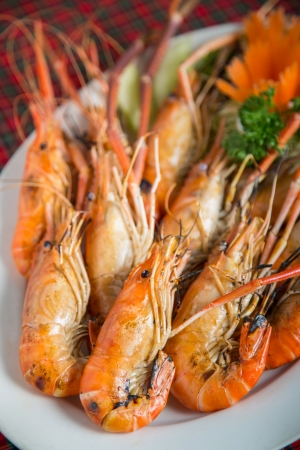 Crevettes grill�es fruits de mer