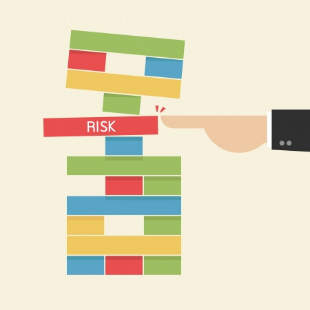 risk management: Take a Risk  Business Concept  Illustration
