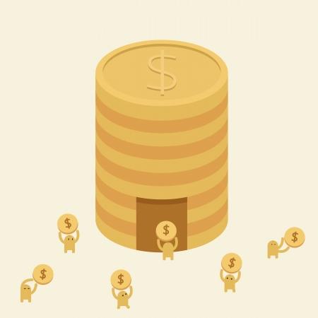 �conomiser de l'argent Aller � la Banque