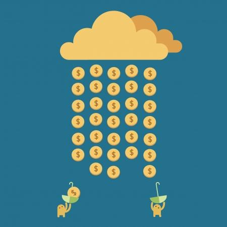 Argent pluie Temps de Rich Illustration