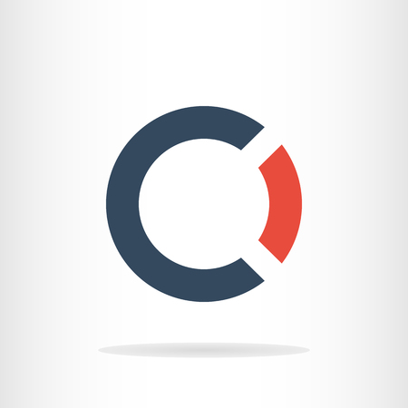 Letters C and O logo template Ilustrace