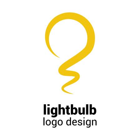 ideas: Lightbulb logo template Illustration