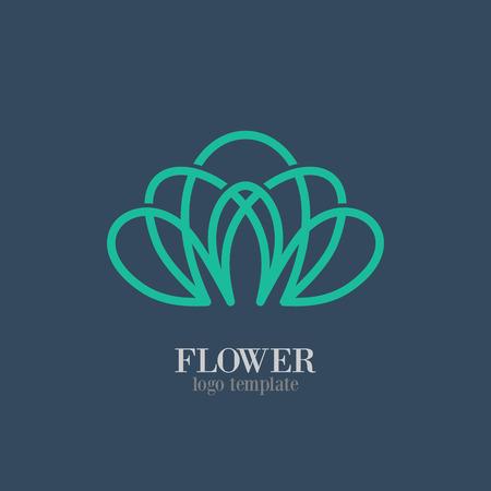 Abstracte Bloem Logo template Logo