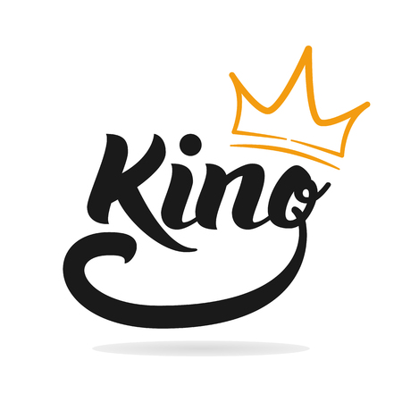 King logo template. Hand lettering. T-shirt graphics