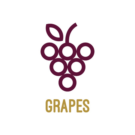 Abstract grapes logo template. Grapes icon