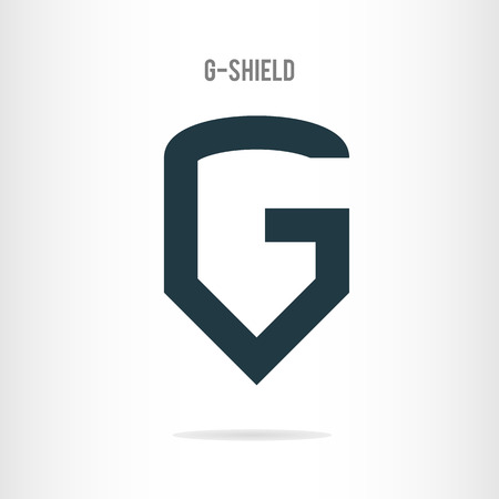 logo letter: Letter G logo template. The letter G in the form of shield. Business logo template Illustration