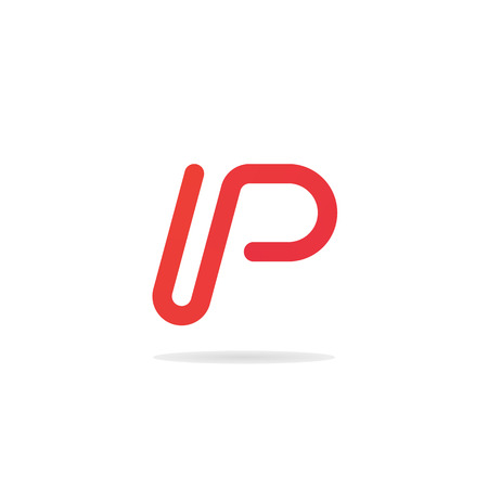 Abstract letter p  template. Letter P business  . P icon