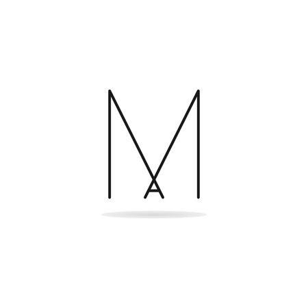 Letter M and A logo template. Business logo template