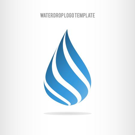 Waterdruppel logo template. Waterdrop icoon. Zakelijke logo template Logo