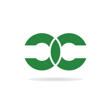 Resumen letras C y C logotipo de la plantilla. Doble carta logotipo C. Carta. Letras C y C icono. plantilla de logotipo de la empresa. Vector. logo mínima. Monograma. logotipo aislado. letras C Unidas Logos
