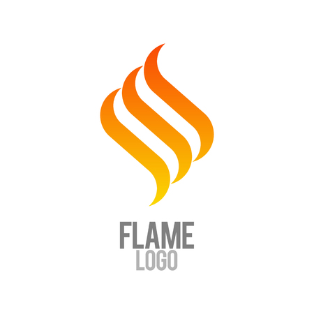 Fire flame logo template. Business logo template. Vector