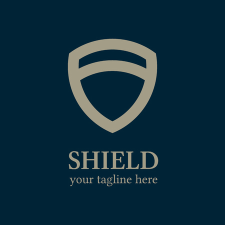 Shield logo template. Shield icon. Business logo template. Abstract shield. Vector Ilustração