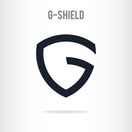 Abstract letter G logo template. The letter G in the form of shield. Business logo template. Vector