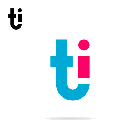 i t: Abstract letters T and I logo template. T and I icon. T, I logo. TI combination. Business logo template Illustration