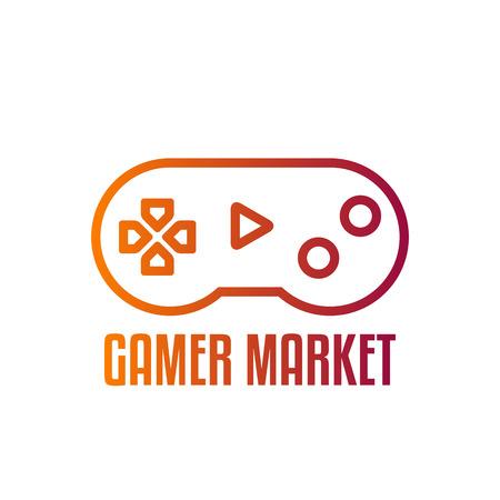 Game Controller Logo Template. Joystick Logo. Joystick Icon