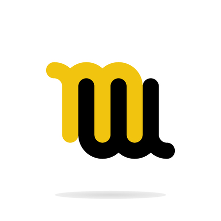 Abstract letters M and W logo template. Business logo template. Vector Ilustração