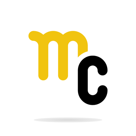 Abstract letters M and C logo template. Business logo template. Vector