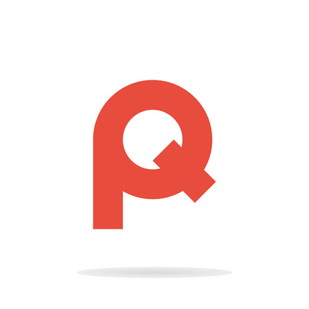 Abstract letters P and Q logo template. Business logo template. Vector