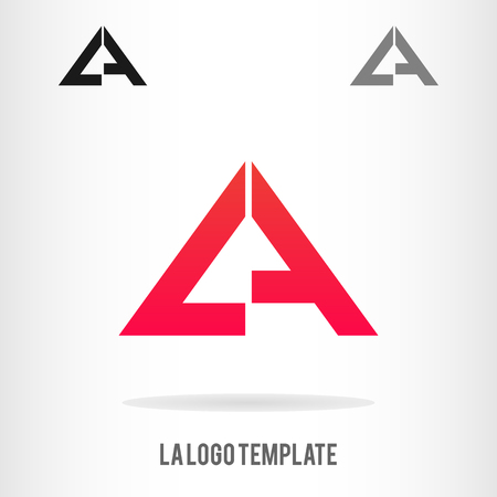 Letters L and A logo template. Business logo template