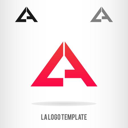 Szablony logo L i szablonu. Szablon logo firmy