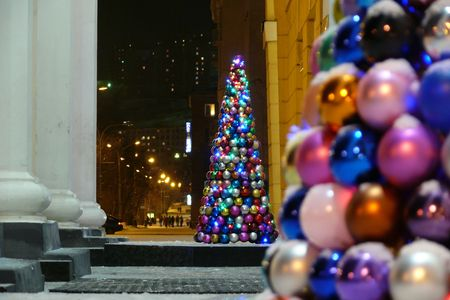 New year's fir tree made from ball Stock Photo - 3620748