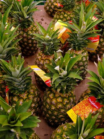 considerable: Considerable quantity of ripe, tasty pineapples.