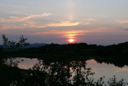 Evening sunset.