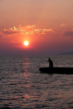 Sea Sunset on the coast.