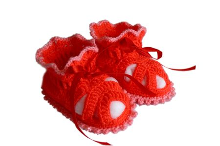 Baby, crochet, baby's bootees.