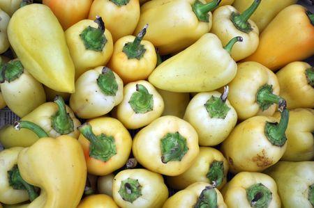 a lot of dirty ripe pepper