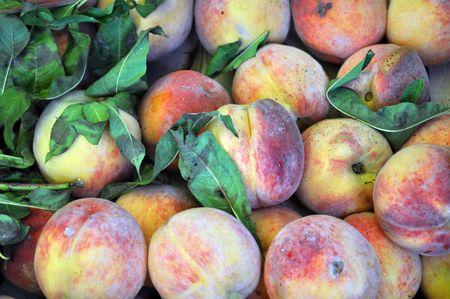 lot of ripe peach