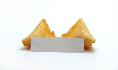 Blank Open Fortune Cookies photo