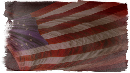 A vintage wallpaper of the original Betsy Ross American flag photo