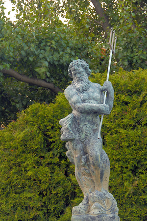 Awesome Poseidon Statue with trident also known as Neptune