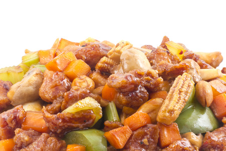 pao: Spicy chinese food, Kung Pao Chicken with peanuts