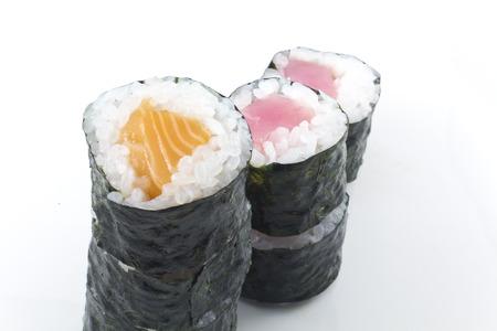 Stack of tuna and salmon sushi representing a graph