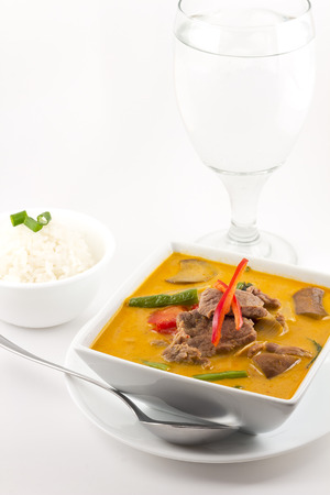Authentic thai cuisine Red Curry with beef