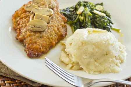 comida: Crispy marsala frango